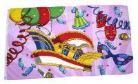 Fahne / Flagge Fasching Karneval Kappe 60 x 90 cm