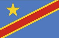 Fahnen Aufkleber Sticker Kongo Kinshasa