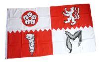 Fahne / Flagge England - Leicestershire 90 x 150 cm