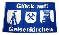 Fahne / Flagge Gelsenkirchen Glück auf! 90 x 150 cm