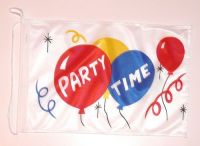 Bootsflagge Party Time 30 x 45 cm