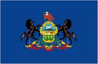 Fahnen Aufkleber Sticker USA - Pennsylvania