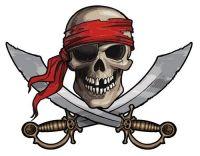Aufkleber Sticker Pirat Schwerter