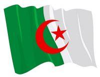 Fahnen Aufkleber Sticker Algerien wehend