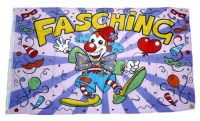 Fahne / Flagge Fasching Karneval Clown 90 x 150 cm