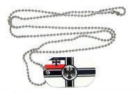 Erkennungsmarke Kaiserreich Marine Dog Tag 30 x 50 mm Fahnen Flaggen
