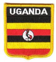 Wappen Aufnäher Fahne Uganda