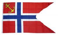 Fahne / Flagge Norwegen Notraship 90 x 150 cm