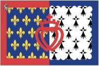 Fahnen Aufkleber Sticker Frankreich - Pays de la Loire