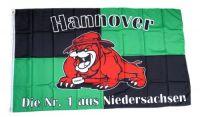 Fahne / Flagge Hannover Bulldogge 90 x 150 cm