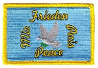 Fahnen Aufnäher Friedenstaube