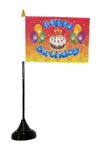 Tischfahne Happy Birthday Kindergeburtstag NEU 11 x 16 cm Flagge Fahne