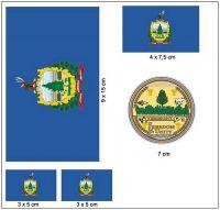 Fahnen Aufkleber Set USA - Vermont