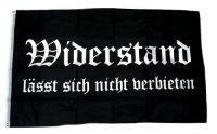 Fahne / Flagge Widerstand lässt sich nicht verbieten NEU 90 x 150 cm