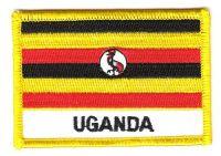 Fahnen Aufnäher Uganda Schrift