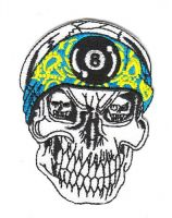 Aufnäher Patch Totenkopf / Skull 3