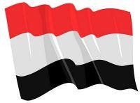 Fahnen Aufkleber Sticker Jemen wehend