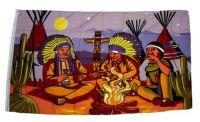 Fahne / Flagge Indianer Tipi 90 x 150 cm