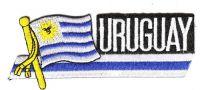 Fahnen Sidekick Aufnäher Uruguay
