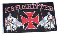Fahne / Flagge Kreuzritter Templer 150 x 250 cm