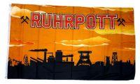 Fahne / Flagge Ruhrpott orange 90 x 150 cm