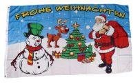 Fahne / Flagge Frohe Weihnachten Rentier 90 x 150 cm