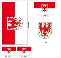 Fahnen Aufkleber Set Brandenburg