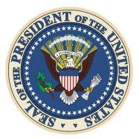 Aufkleber Sticker USA Präsident rund
