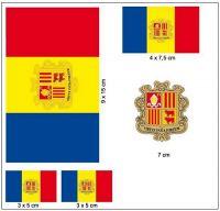 Fahnen Aufkleber Set Andorra
