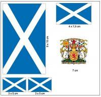 Fahnen Aufkleber Set Schottland