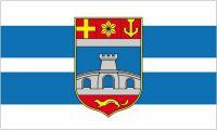Fahne / Flagge Kroatien - Osijek Baranja 90 x 150 cm